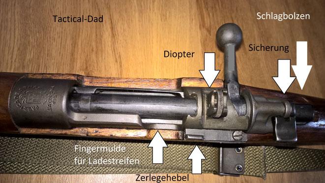 Das FR8 hat ein 98er System. Die Schlagbolzensicherung ist viel sicherer als bei den meisten modernen Jagdgewehren.