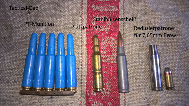 Das FR-8 ist wirklich gut geeignet um damit die billige PT Munition oder 7,65mm Brownung Munition auf 50 Meter zu schießen.