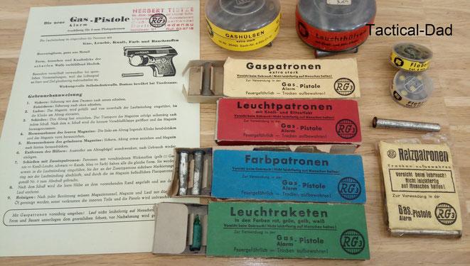 Auch wenn man natürlich den Nutzen von vielen Munitionssorten und Vorsatzhülsen (z.B. Parfum- oder Insektenvernichtungsmunition) in Frage stellen kann, die Möglichkeiten der damaligen SSW waren doch recht umfangreich.
