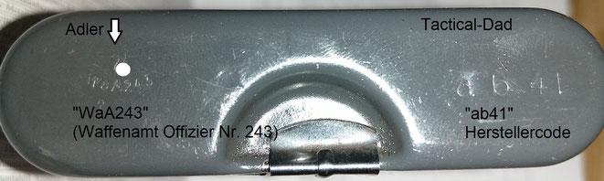 """Auf meinem RG34 Reinigungsgerät ist die WaA Abnahme 243 und der Herstellercode """"ab41""""."""