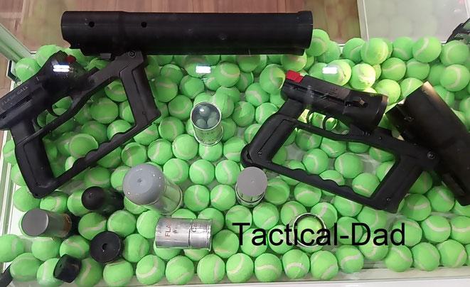 Die Flash Ball Waffen sind vor allem in Frankreich verbreitet. Sowohl bei der Polizei, wie auch zum privaten Selbstschutz.