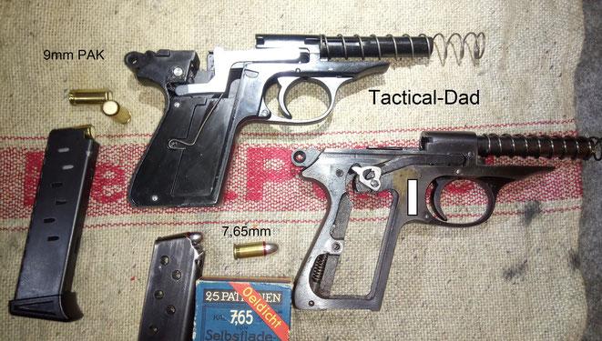 Der große Unterschied zwischen der scharfen Variante der Walther PP und der Schreckschussversion besteht in der Abzugsmechanik.