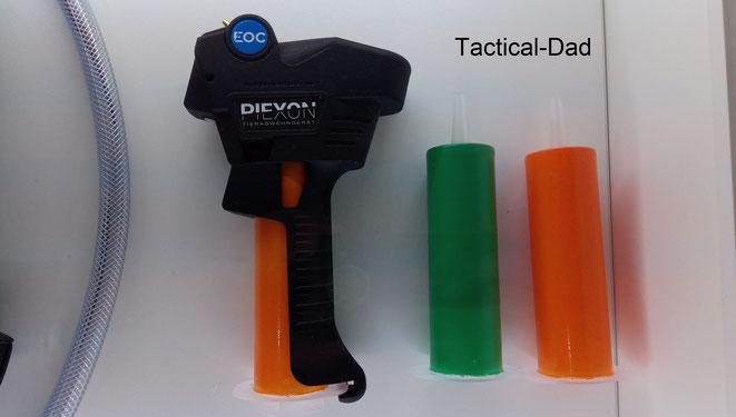 Das Piexon EOC Tierabwehrspray mit automatischer Distanzmessung und Regulierung und 7m Reichweite.
