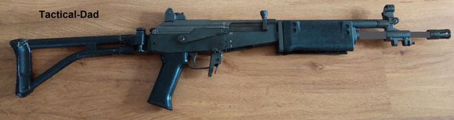 """Das Galil Sturmgewehr. Es wird auch als """"Vektor R4"""" bis heute in Süd Afrika verwendet."""