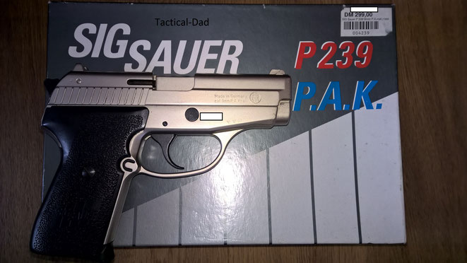 Die Sig Sauer 239 mit der PTB 696 hat noch keine Schwächung am Patronenlager. Die späteren jedoch schon.