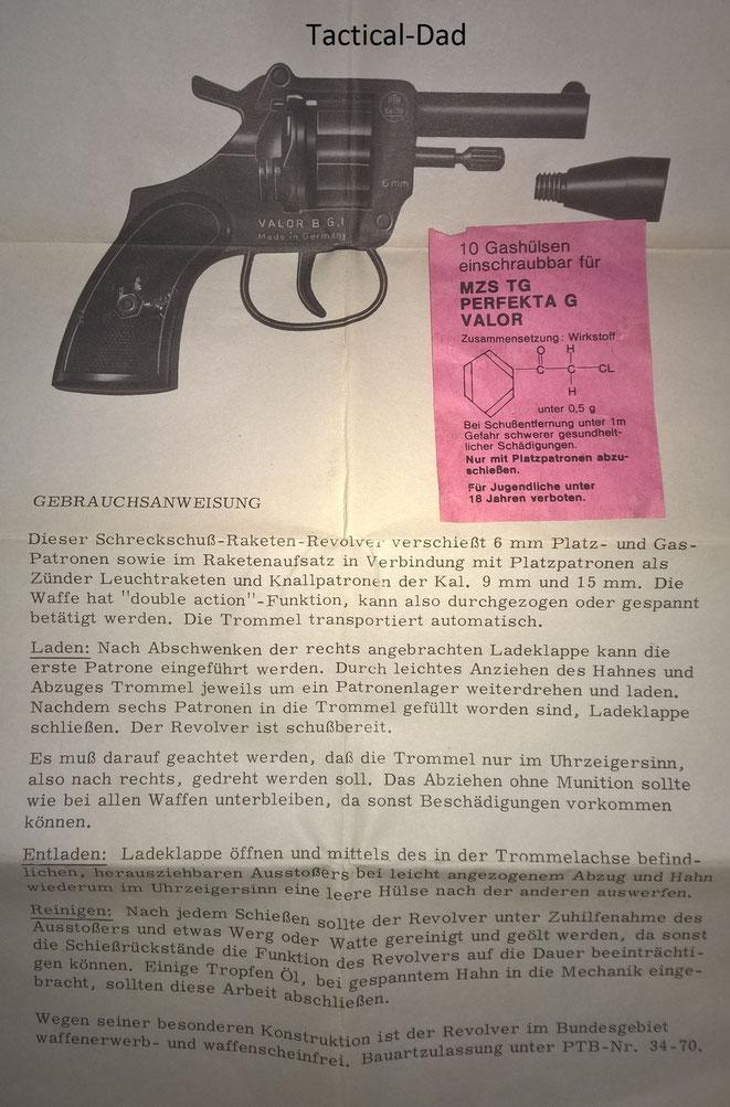 Anleitung vom Valor Revolver.
