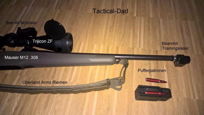 Meine Mauser M12 mit Beamhit Trainingslaser.