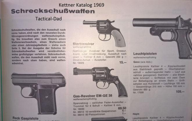 Der Valor Revolver als no-name Produkt im Kettner Katalog 1969.