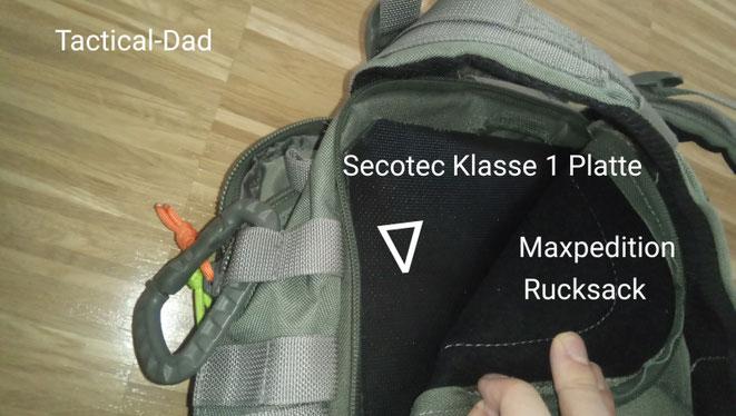 Kaum einer will in der Freizeit mit einer Schutzweste rum laufen. Aber seinen Rucksack kann man sehr leicht mit Kevlarmatten oder Platten aufrüsten. Eine gebrauchte SK1 Weste bekommt man bei Ebay schon für 100 Euro.