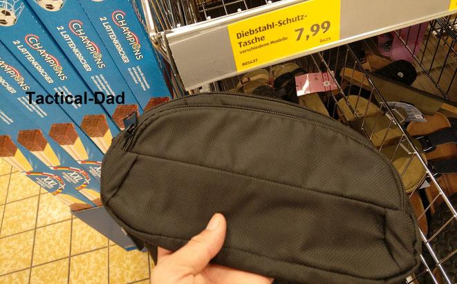 RFID- und Diebstahlschutz Taschen gibt es viele am Markt. Der niedrige Preis bei Aldi machte mich neugierig.