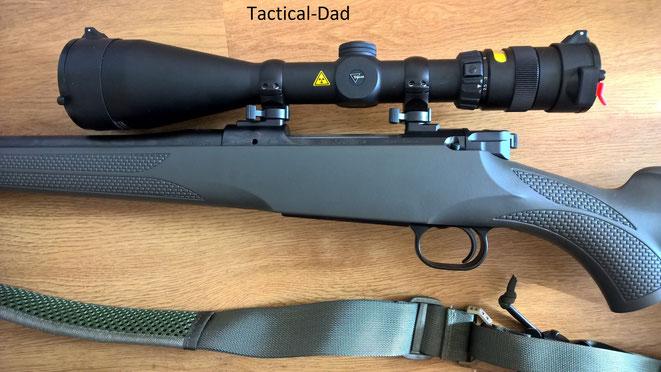 Die Systemhülse der M12 macht einen sehr stabilen Eindruck. Mein Zielfernrohr ist mit der Mauser Hexalock Montage  befestigt.