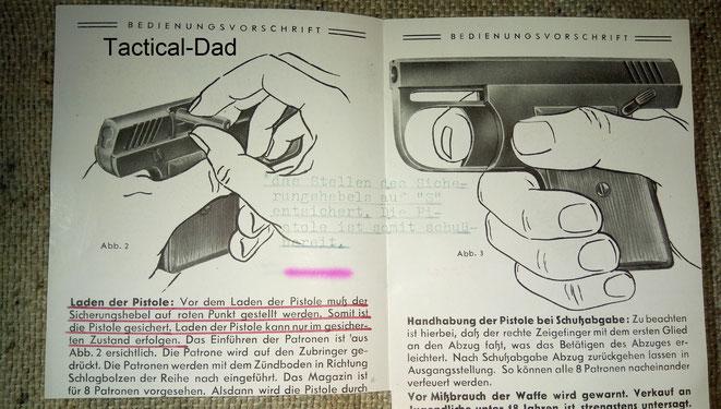 Wadie Gas-Alarm-Pistole Anleidung.