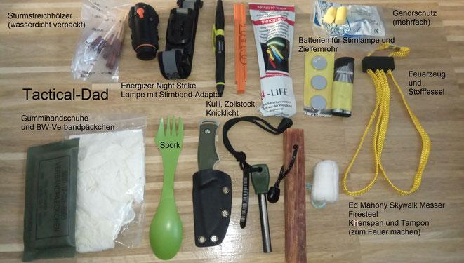 Man könnte den Inhalt meiner Viper Tasche als EDC für den Wald bezeichnen. Ich gehe so gut wie nie ohne diese Tasche raus.