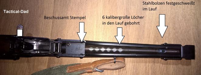 Durch die Abnahme vom Beschussamt hat man mit so einer Waffe absolute Rechtssicherheit.