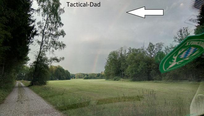 Ich schließe diese beiden Monate mit einem Regenbogen im Jagdrevier.