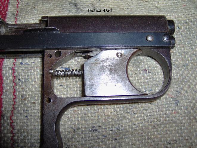 Abzugsmechanik der Lacrimae Pistole
