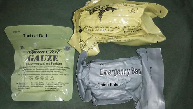 Bei uns bekommt man hauptsächlich die originale Israeli Bandage und den OLAES Verband. Beide sind super. Aber was kann die chinesische Kopie?