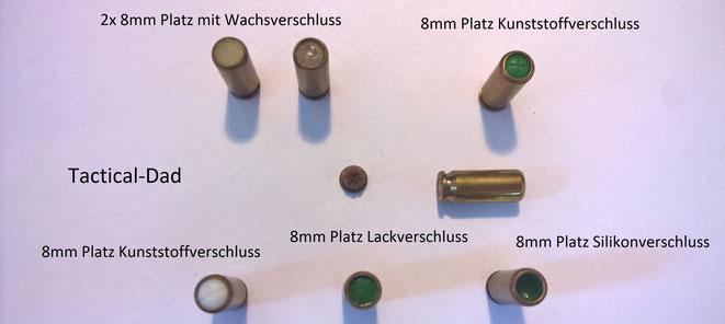 Von den 8mm Munition gibt es sehr viele unterschiedliche Patronen. Z.B. die Platzpatrone mit Lackverschluss ist extrem selten.