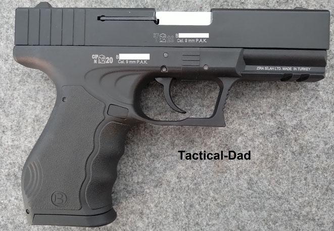 Auch wenn es einige Behörden nicht wahrhaben wollen, das slowakische Beschusszeichen auf der Blow TR17 Pistole, aus dem Jahr 2020, ist genau so viel Wert, wie ein PTB-Zeichen.
