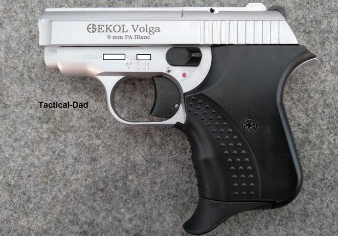 Ekol Volga 9mm PAK Schreckschusspistole in der Titan Version.