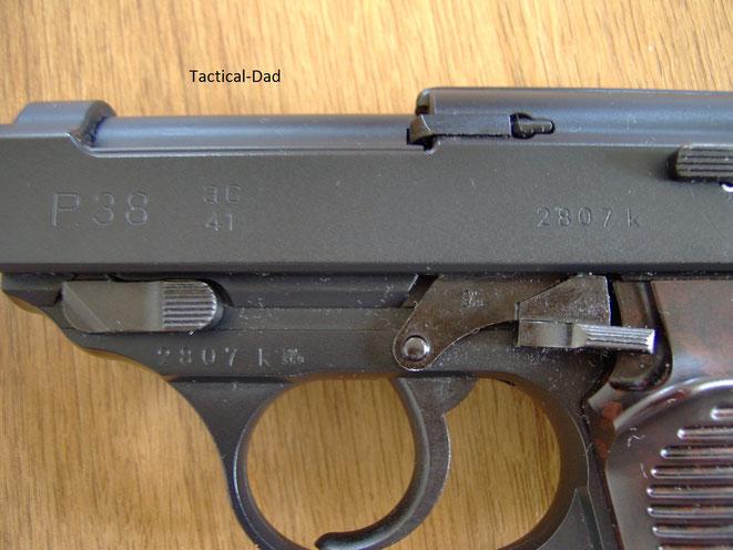 Maruzen Airsoft P38 verglichen mit der scharfen P38 der Wehrmacht