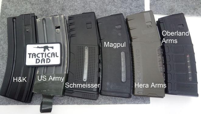 30 Schuss Magazine für AR-15 Gewehre von Heckler & Koch, dem US Militär, Schmeisser, Magpul, Hera Arms und Oberland Arms.