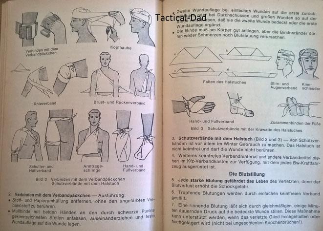 Schon in meiner frühen Jugend habe ich aus dem Reibert (hier von 1982) gelernt was man mit dem Dreiecktuch alles machen kann.