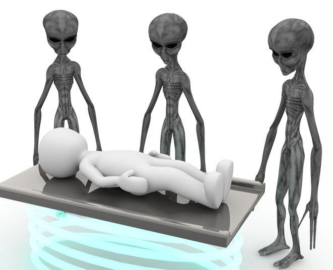 宇宙人に誘拐されたイメージ