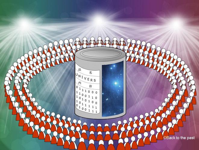 ホログラフィー宇宙缶ステージ