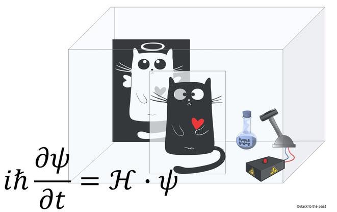 シュレーディンガーの猫とシュレーディンガー方程式