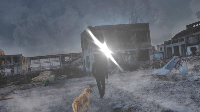 時空の裂け目から現れた謎の男イメージ