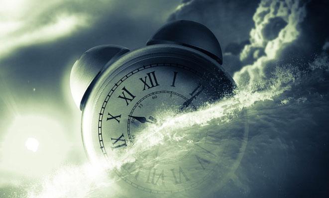 時間と波のイメージ