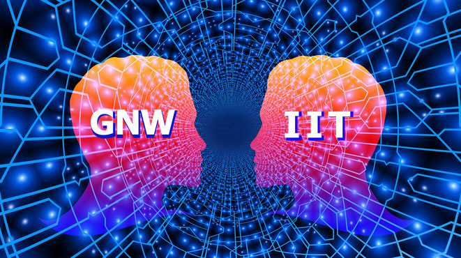 「GNW」と「統合情報理論」イメージ