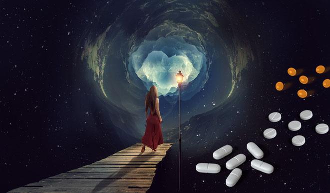 明晰夢とサプリメントイメージ