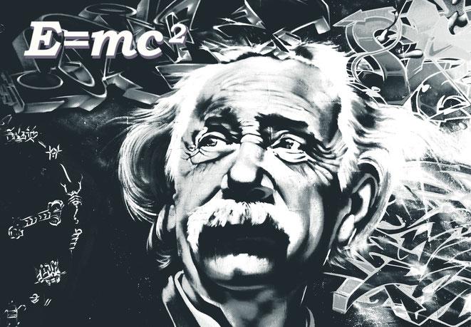 アインシュタインとE=mc2イメージ