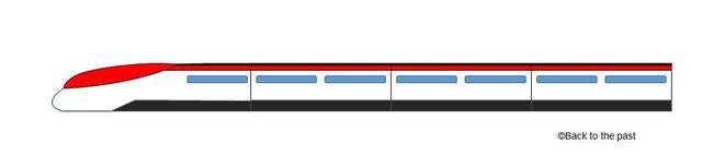 未来行きの電車型タイムマシン