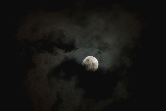 2019年8月の月と雲