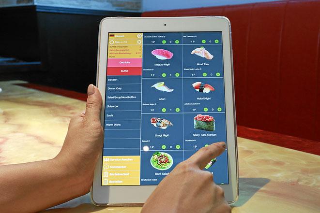 Modernes iPad-Bestellsystem