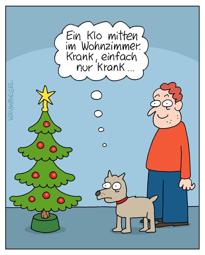 Jeder betrachtet unsere Weihnachtstraditionen anders, meint Cartoonist Uwe Krumbiegel