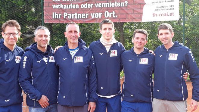 Die erfolgreiche Truppe v. l. n. r. Gary Wustinger, Peter Hintermayr, Gerald (Nik) Müller-Niklas, Christoph Koller, Michael Holcmann, Andi Polzer (nicht im Bild Thomas Theuer)