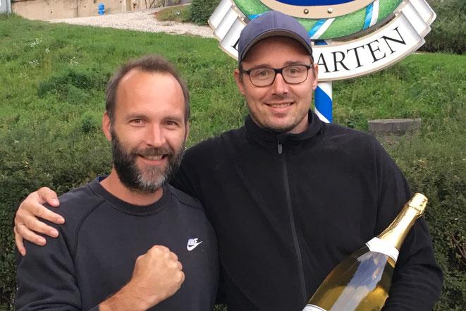 Unsere Clubmeister im Doppel Rainhard & Flo (im Bild rechts)