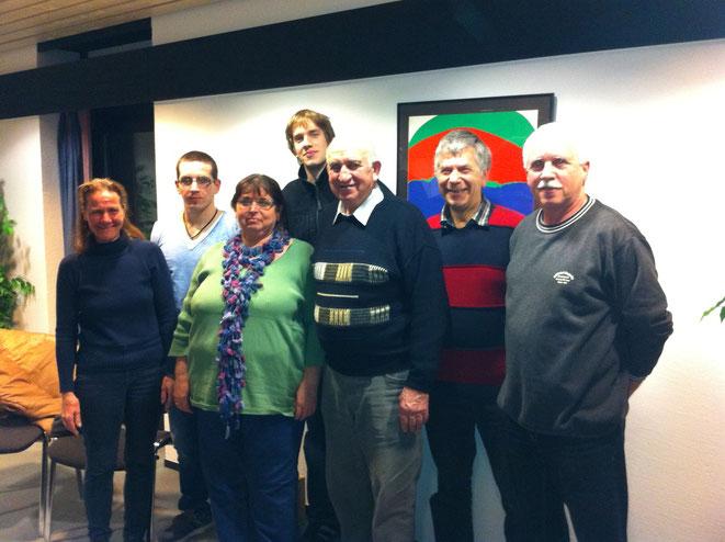 Der neue Vorstand von l.n.r.: Gabriele Adam, Thomas Koch, Antje Schwarz, Rolf Grimm, Konrad Bildhauer, Rainer Grimm, Roger Koch