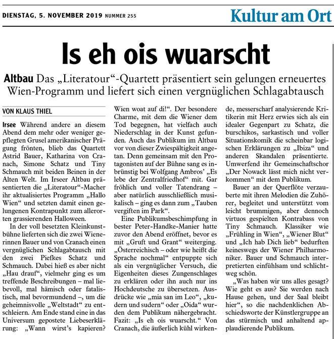 Allgäuer Zeitung vom 5. November 2019