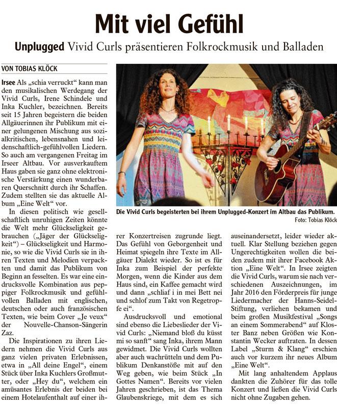 Kleinkunstverein Altbau e.V. - Vivid Curls