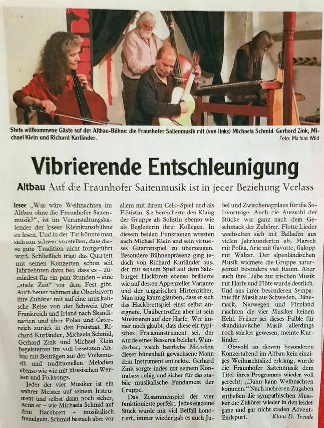 Allgäuer Zeitung vom 27.11.2019