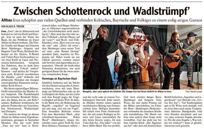 Kleinkunstverein Altbau e.V. - IRXN-Pressekritik