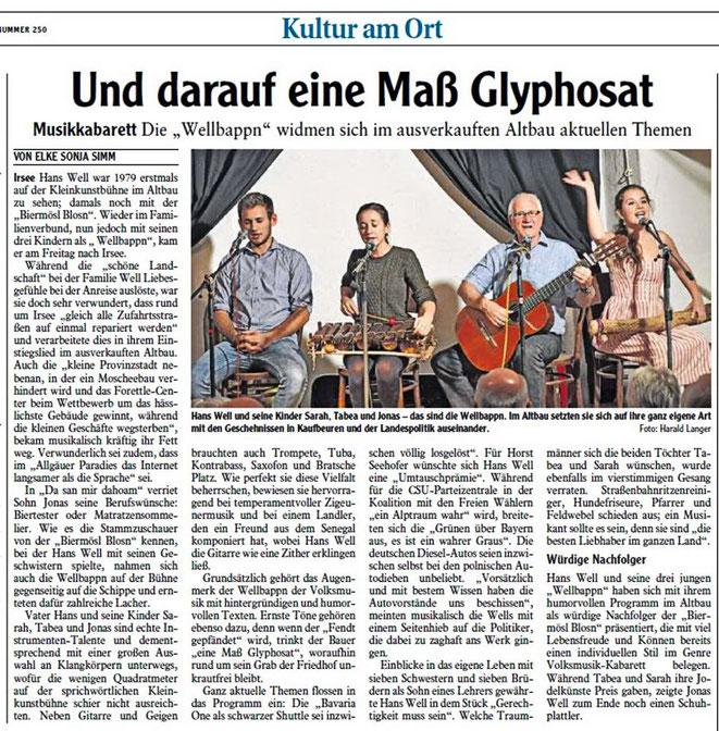 Allgäuer Zeitung-Kaufbeuen vom 29.10.2018