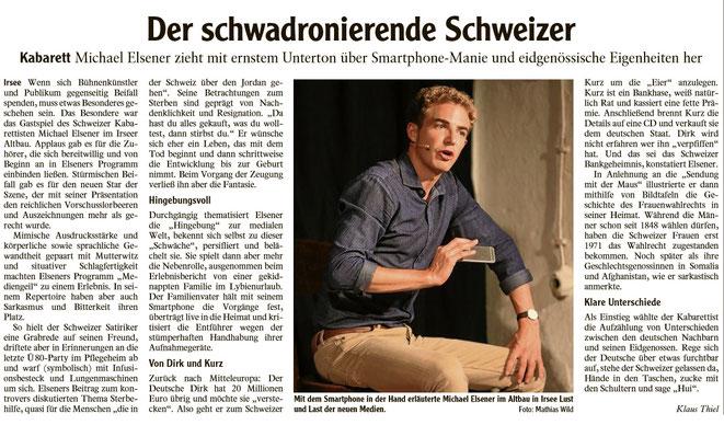 Kleinkunstverein Altbau e.V. - Michael Elsener-Pressekritik