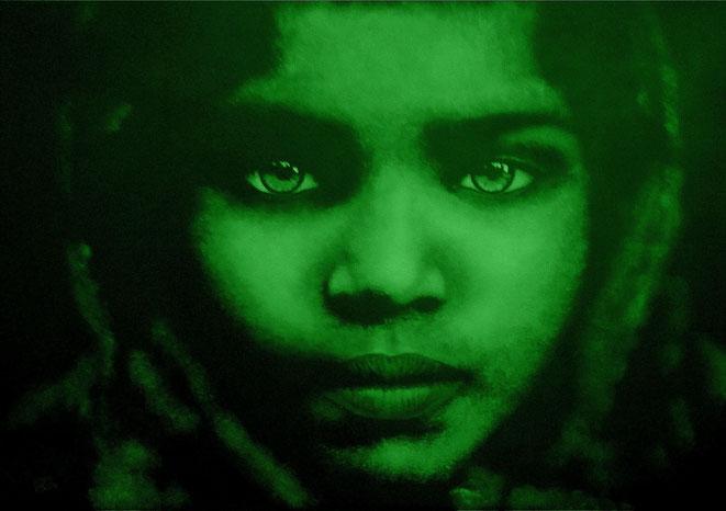 und jetzt mal in grün..., 100x70 cm