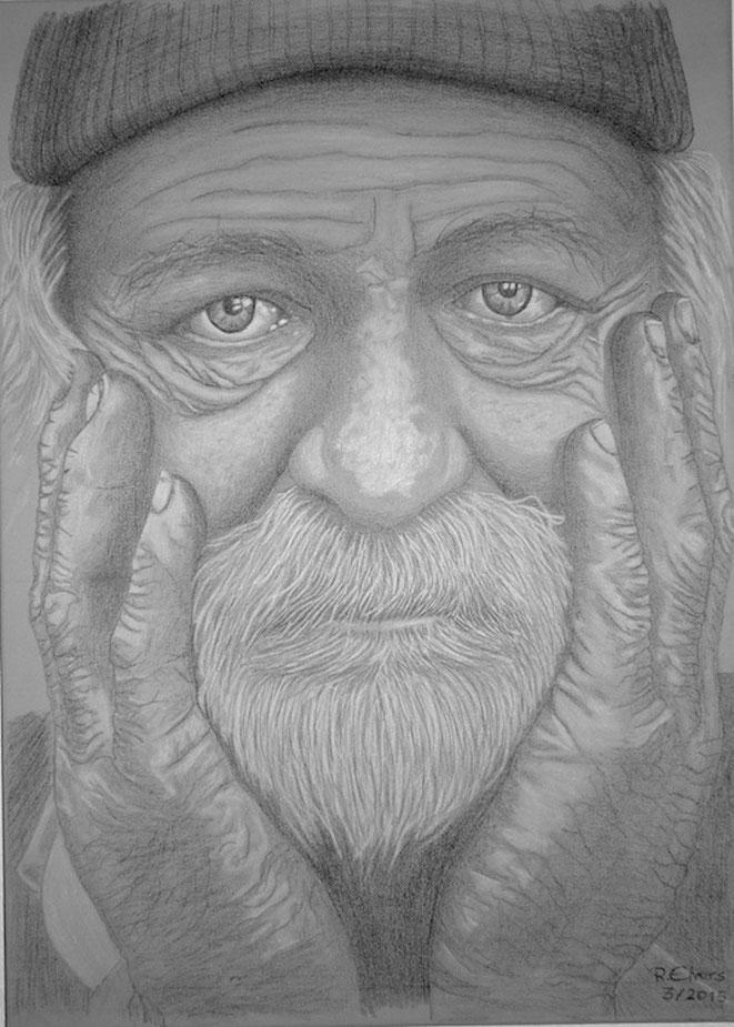 Obdachloser 2, 70x50cm